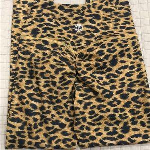 Til You collapse leggings scrunch Cheetah XS